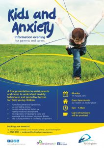 Resilience Kit Rockingham kids and anxiety information evening